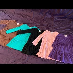 Other - Girls Ruffle Girls shirts size 14 BUNDLE lot of 5